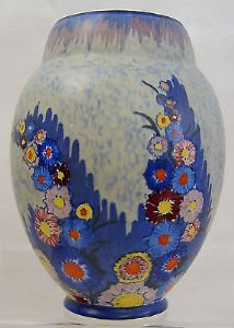 Carlton Ware Art Deco 'Garden' Ovoid Medium Vase - 1930s - SOLD